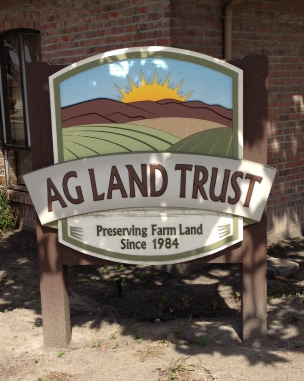 Ag Land Trust Sign and Logo