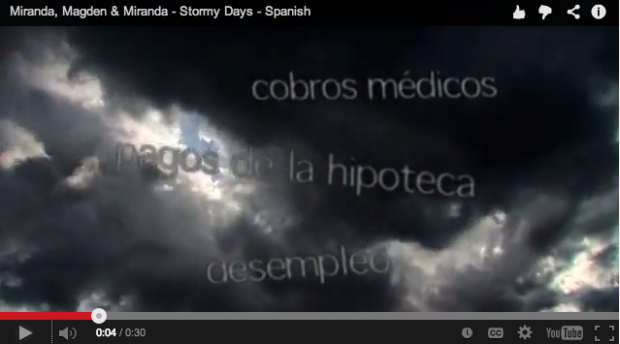 Stormy Days - Spanish