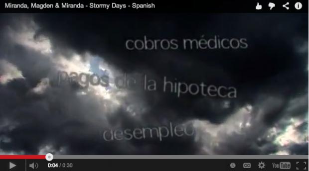 Stormy Days - Spanish