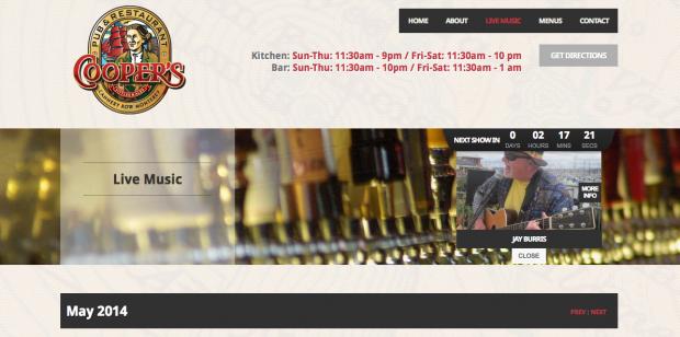 Cooper's Pub - Monterey website